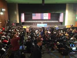 North High School prepares for Obama event.