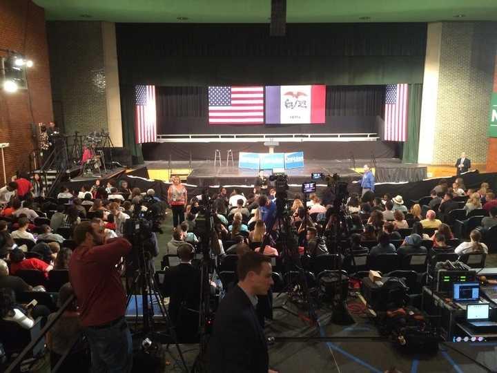 North High School prepares for Obama event.