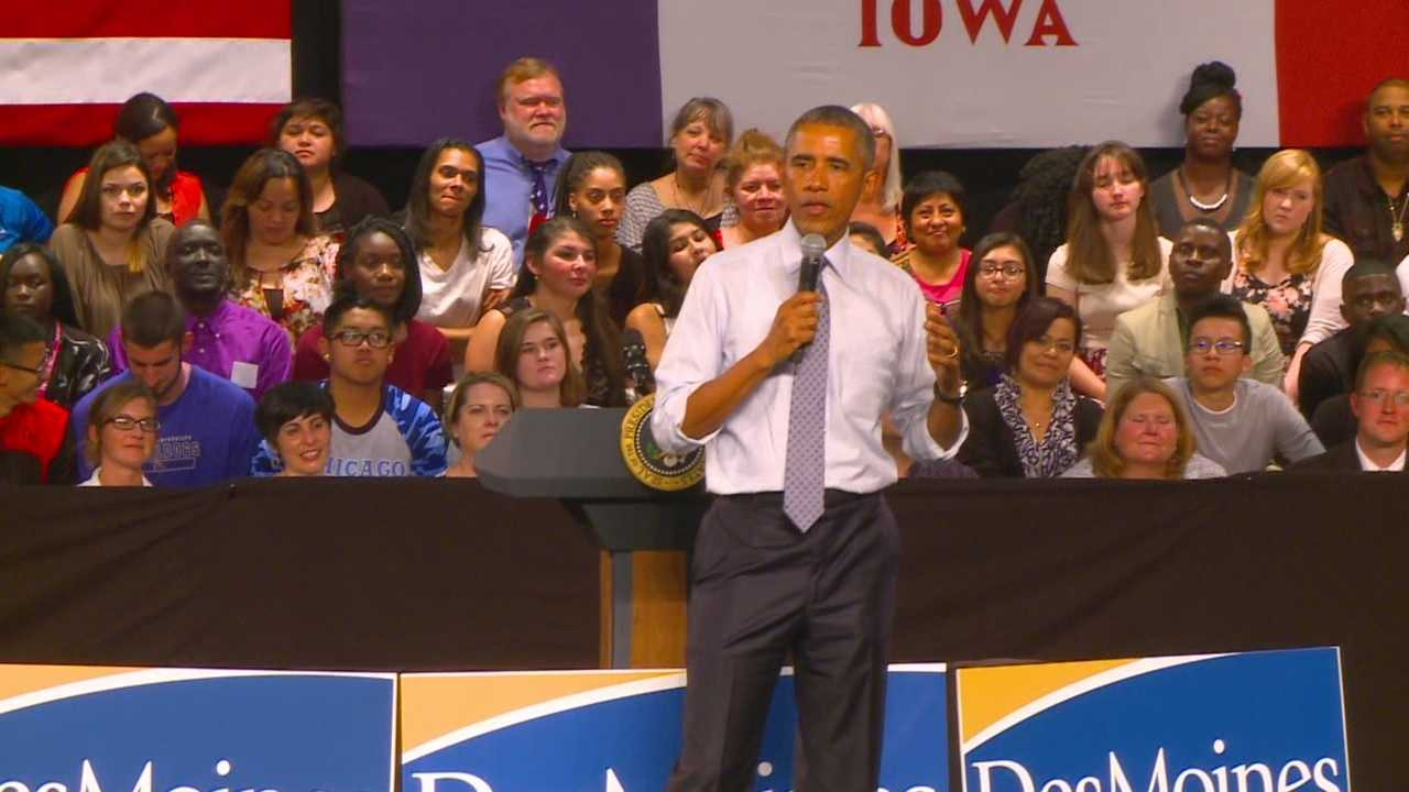 It was the 18th time President Barack Obama visited Iowa on Monday.