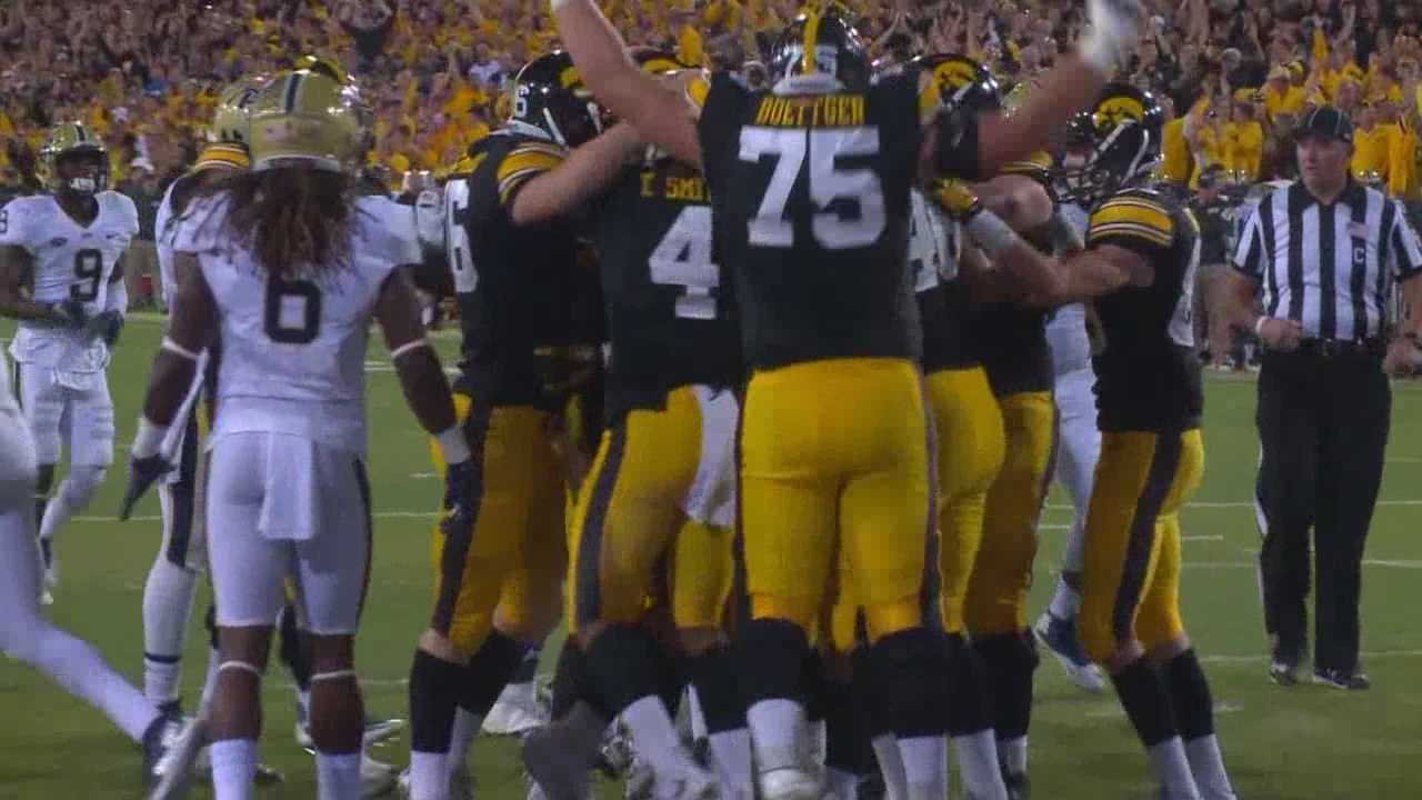 The 57-yard FG gave Iowa a wild 27-24 win and a 3-0 start.