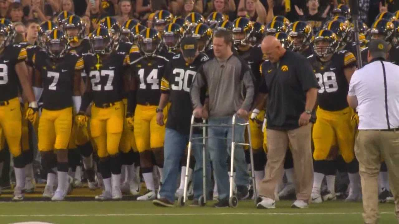 It was an emotional night for the Hawkeyes on Saturday on many levels.