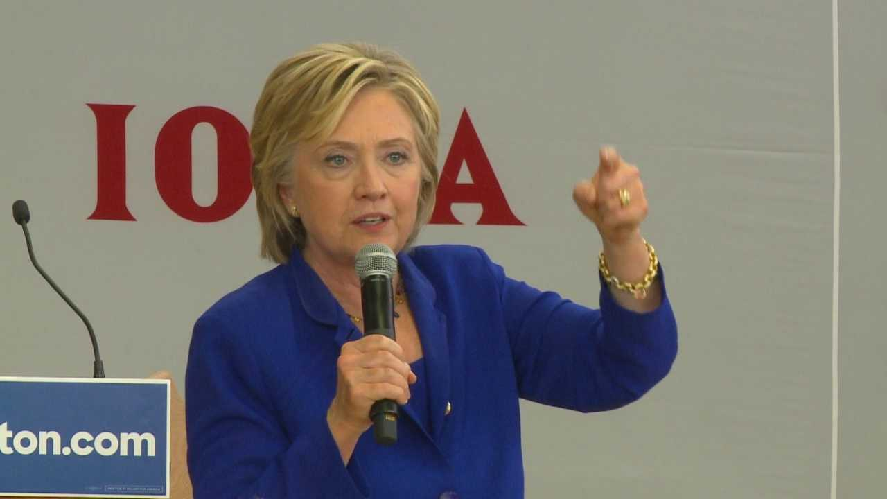 Hillary Clinton announced in Iowa that she opposes the Keystone Pipeline.