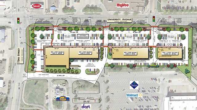 Apple Valley Shopping Center plan in Windsor Heights