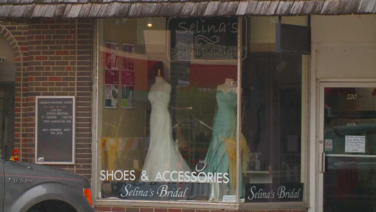 A local bridal shop is facing intense scrutiny for seemingly disappearing, leaving brides-to-be doing some last-minute dress shopping for their big day.