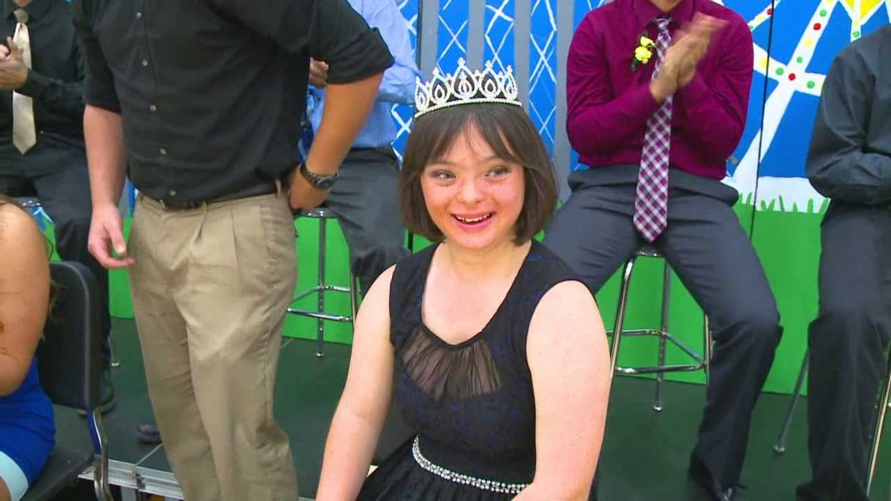 An Iowa girl has her dream come true, homecoming queen.