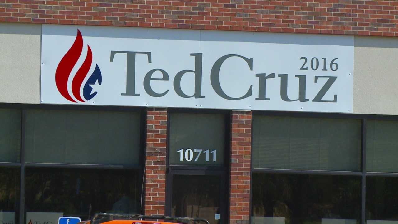 Sen. Ted Cruz was Iowa on Saturday for the opening of his campaign office in Urbandale, making him the seventh Republican to set up shop in Iowa.