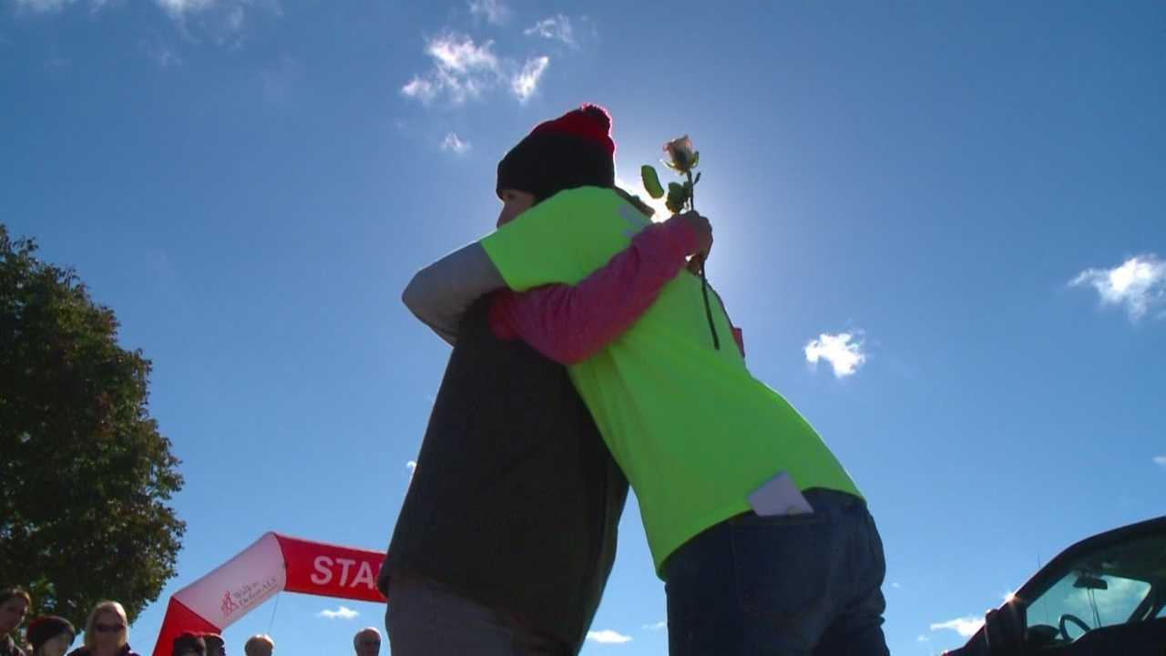 Between 1,500 and 2,000 people joined together Saturday to raise money to help the 200 Iowans who suffer from ALS.