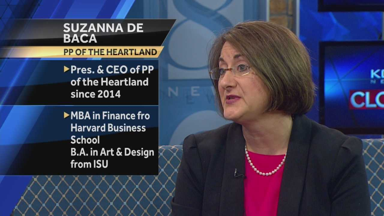 Suzanna De Baca, with Planned Parenthood of the Heartland, discusses funding for Planned Parenthood.