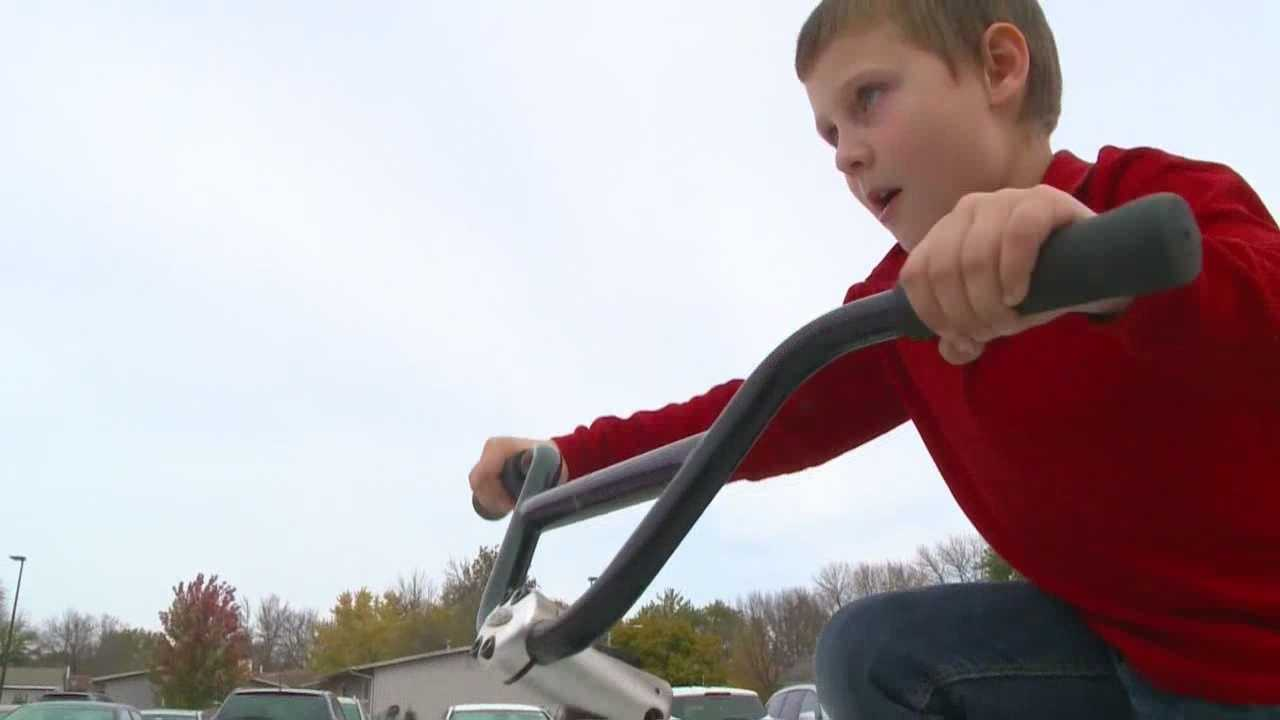 A local police officer and bike shop came together to help a 5-year-old get back on his bike.