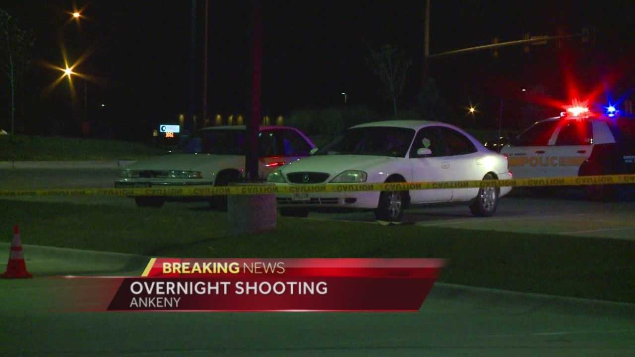A man was detained by police Saturday night after he allegedly shot two people near a McDonald's parking lot.