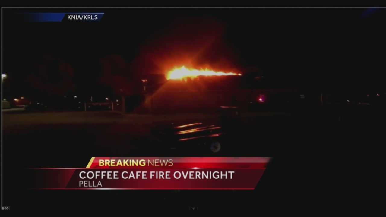 All available fire crews were called to a fire at a café in Pella late Monday night.