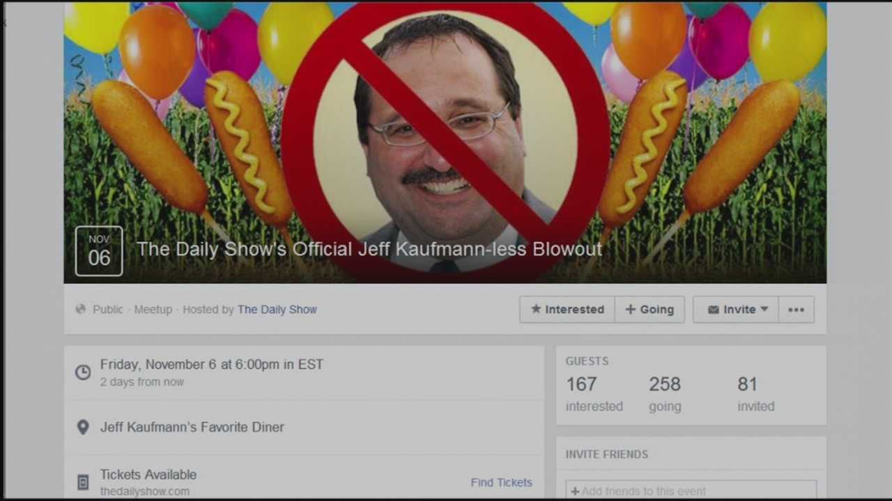 The chairman of the Republican Party of Iowa is the target of a new 'Daily Show' Facebook event.