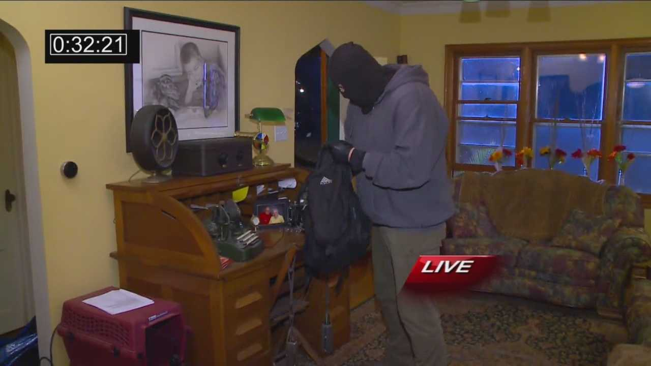 One security expert says a burglar can break into a house in a matter of seconds.
