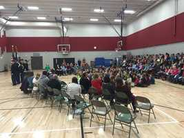 Kate Mitchell Elementary Veterans Day event