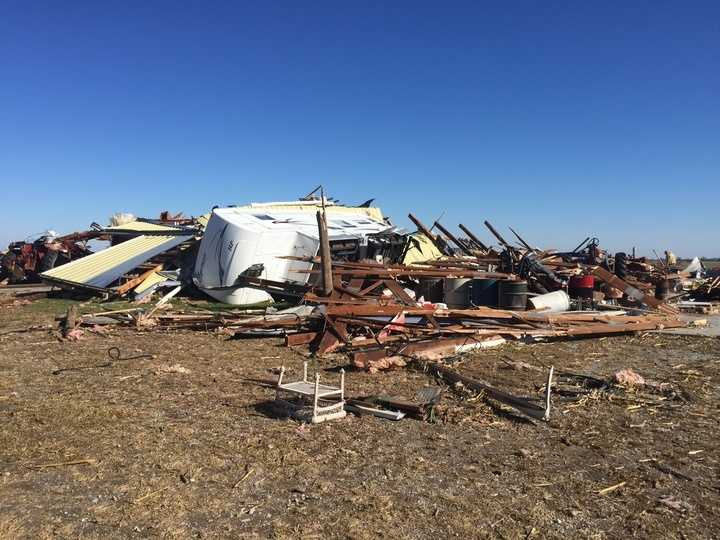 Storm damage near town of Melrose
