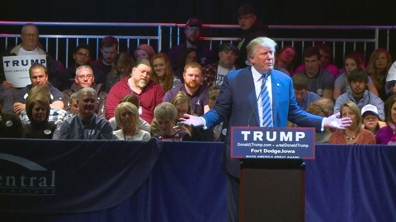 The talk of today is still looming around what Donald Trump said Thursday night at a rally in Fort Dodge.