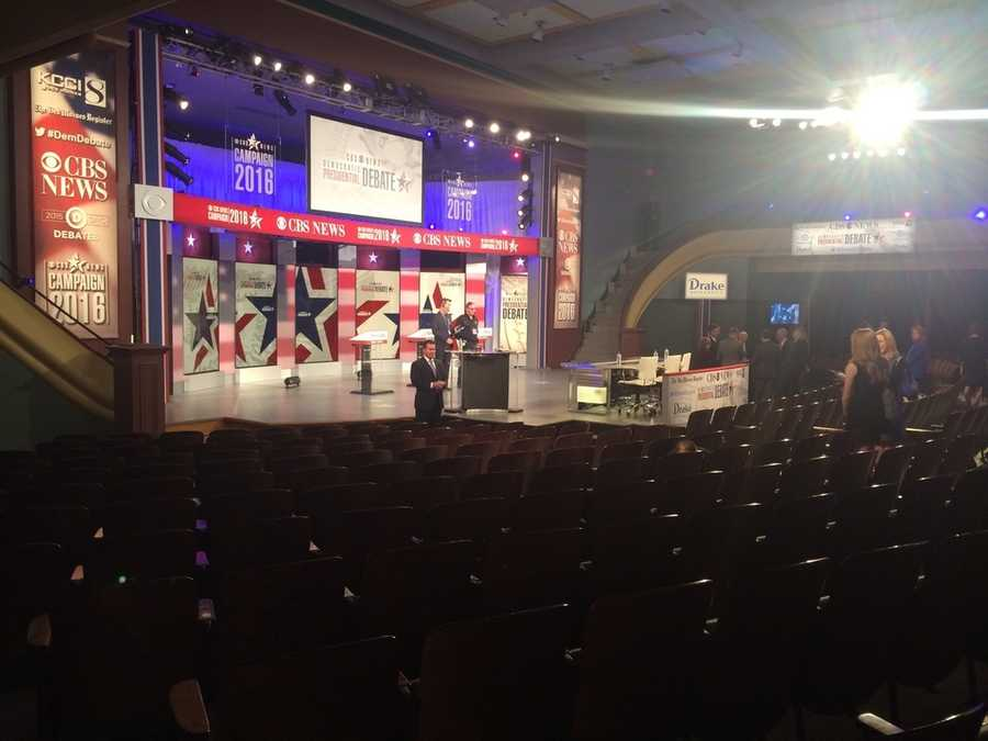 The stage of the debate just before the big event.