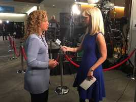 DNC Chair Debbie Wasserman Schultz gives her insight into tonight's debate to KCCI's Cynthia Fodor.