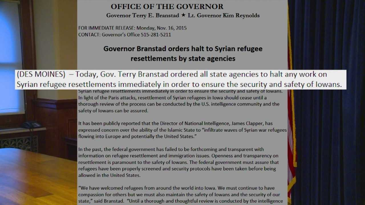 Some governors are opposing the refugees in their states.