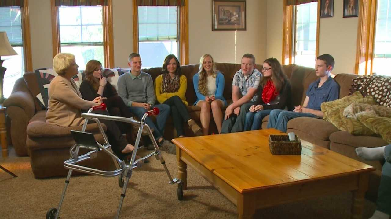The McCaughey family of Carlisle, Iowa, had septuplets, and now the family is about to face an empty nest.