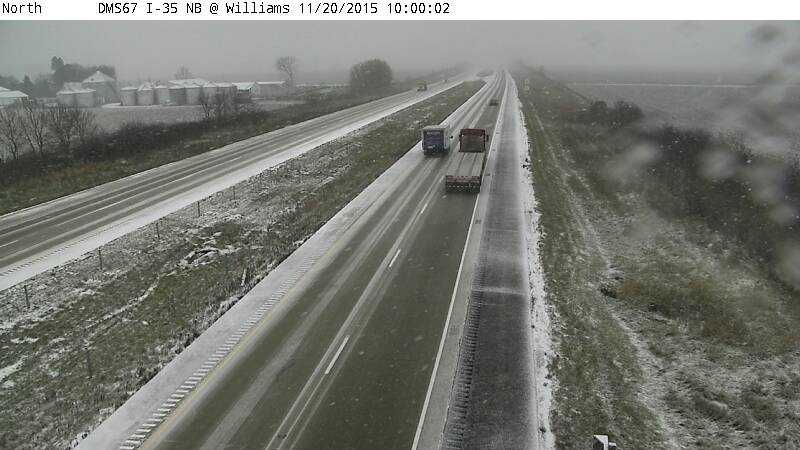 Interstate 35 near the intersection with Highway 20 -- 10 a.m.