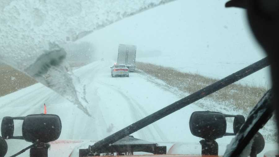 11:45 a.m. snow plow camera north of Spencer
