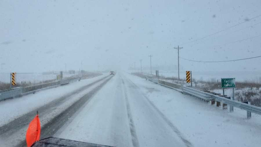 1 p.m. snow plow camera near Clarion on Highway 3