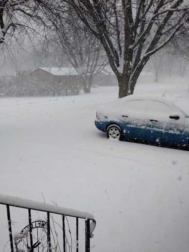 Snow in Rock Rapids