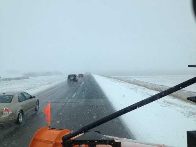 1:30 p.m. Interstate 35 near Hampton snow plow camera