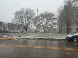 2:50 p.m. snow starting in Adel