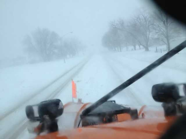 2:50 p.m. snow plow camera from Sioux Center