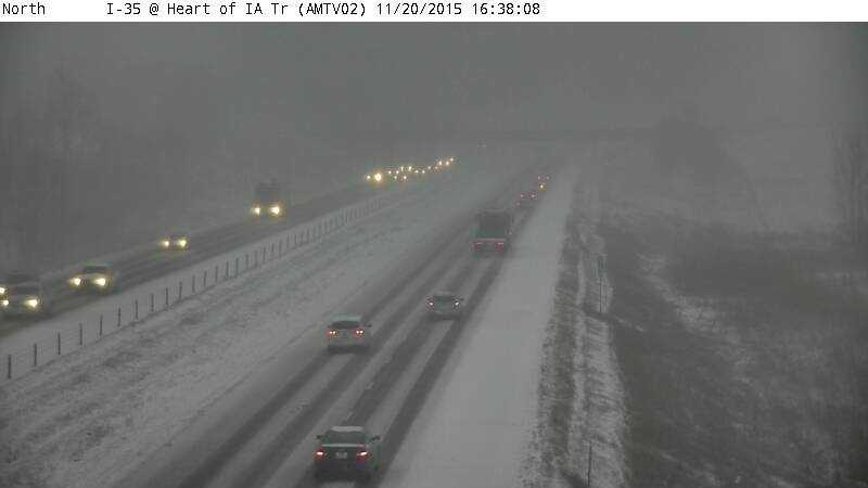 4:40 p.m. Interstate 35 on way to Ames near Huxley