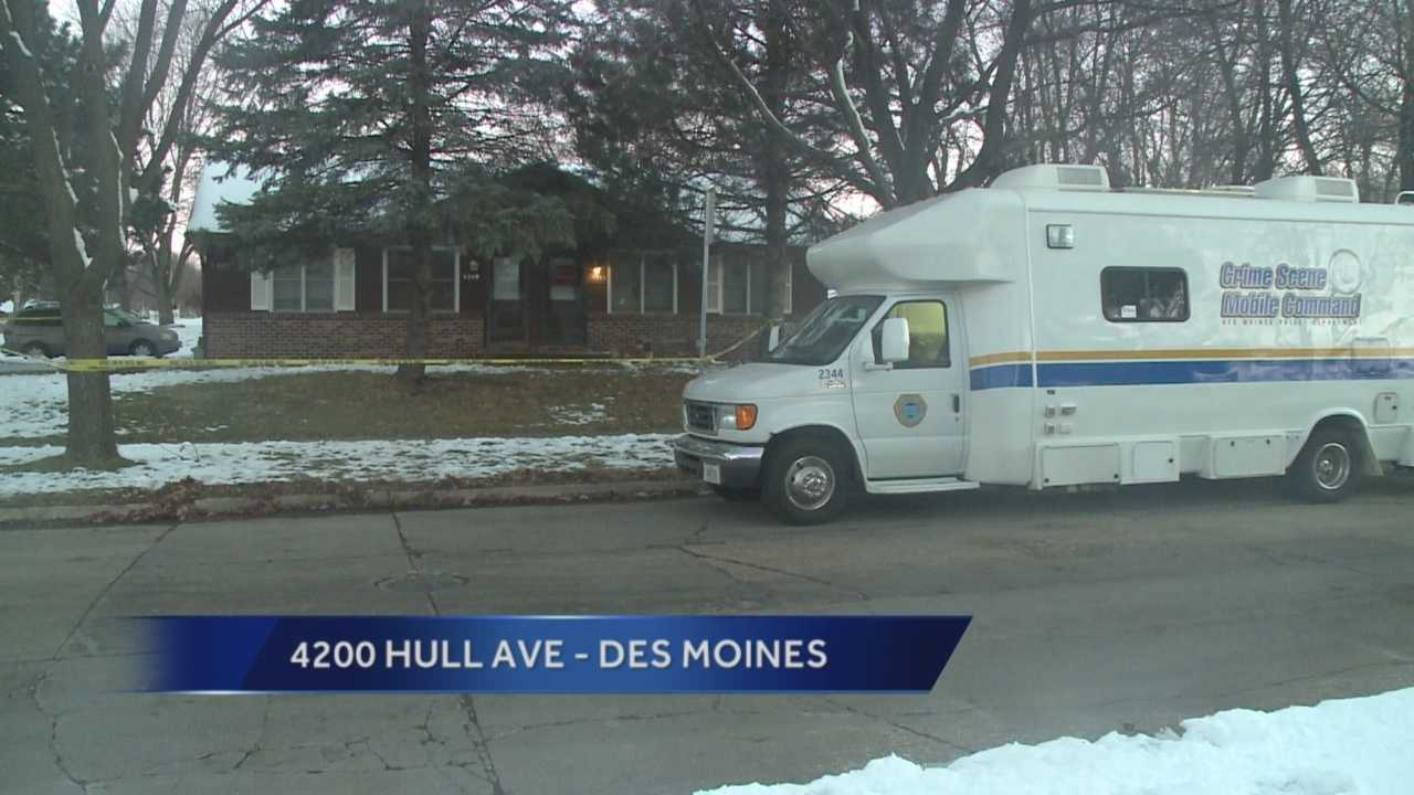 Des Moines police said a man is the suspect in the shooting death of his wife and daughter.
