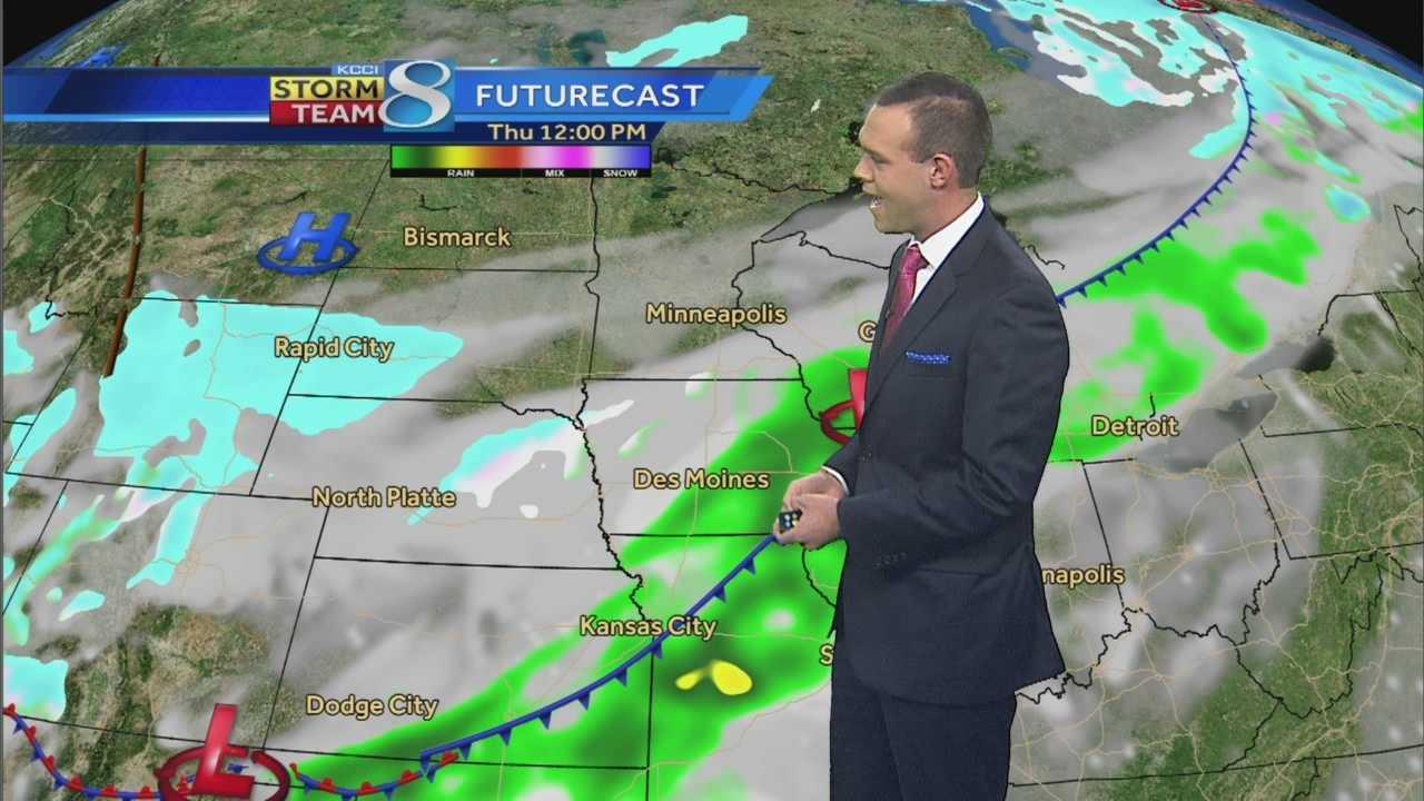 KCCI 8 Meteorologist Frank Scaglione's forecast for Iowa.