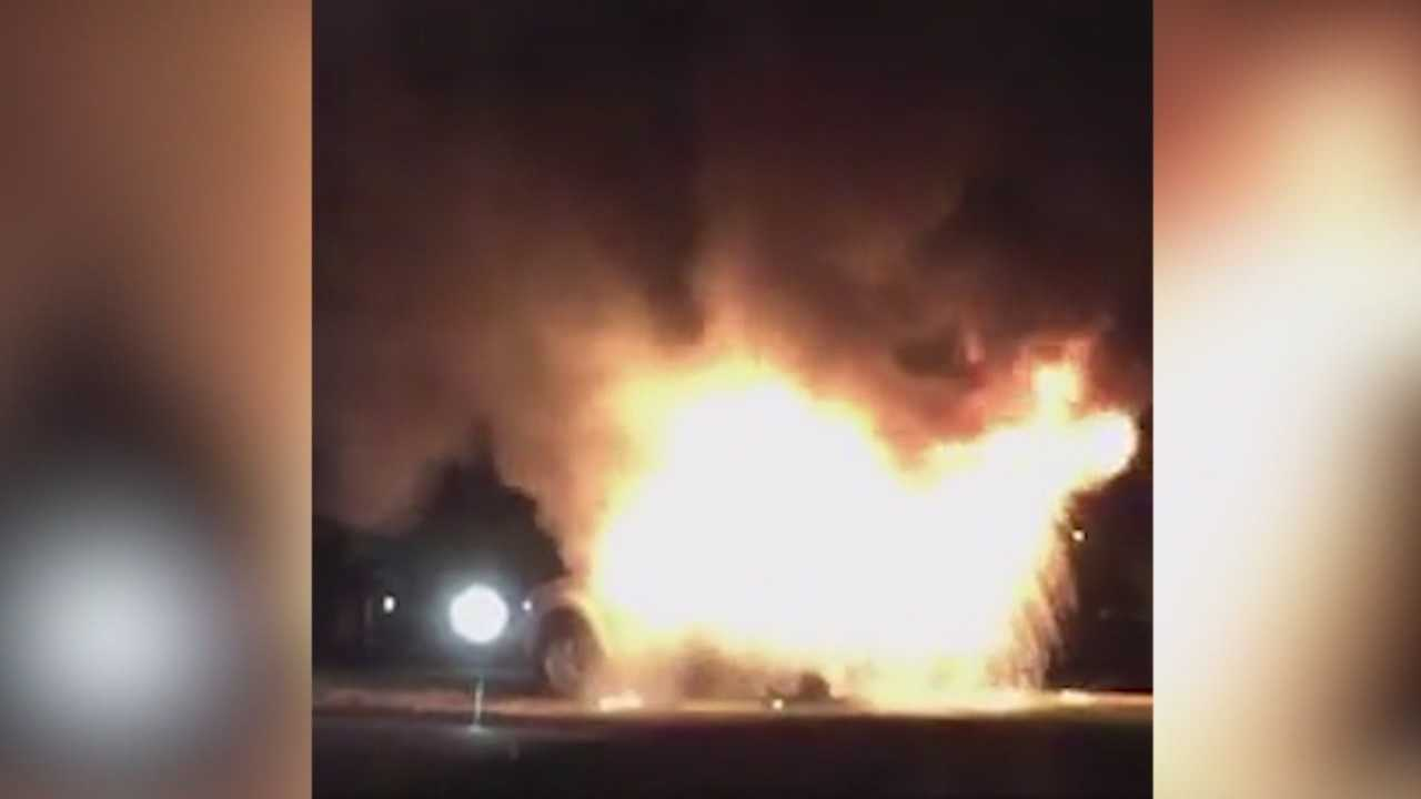 Authorities are looking for the person who set a mobile speed camera truck on fire this weekend in Fort Dodge.