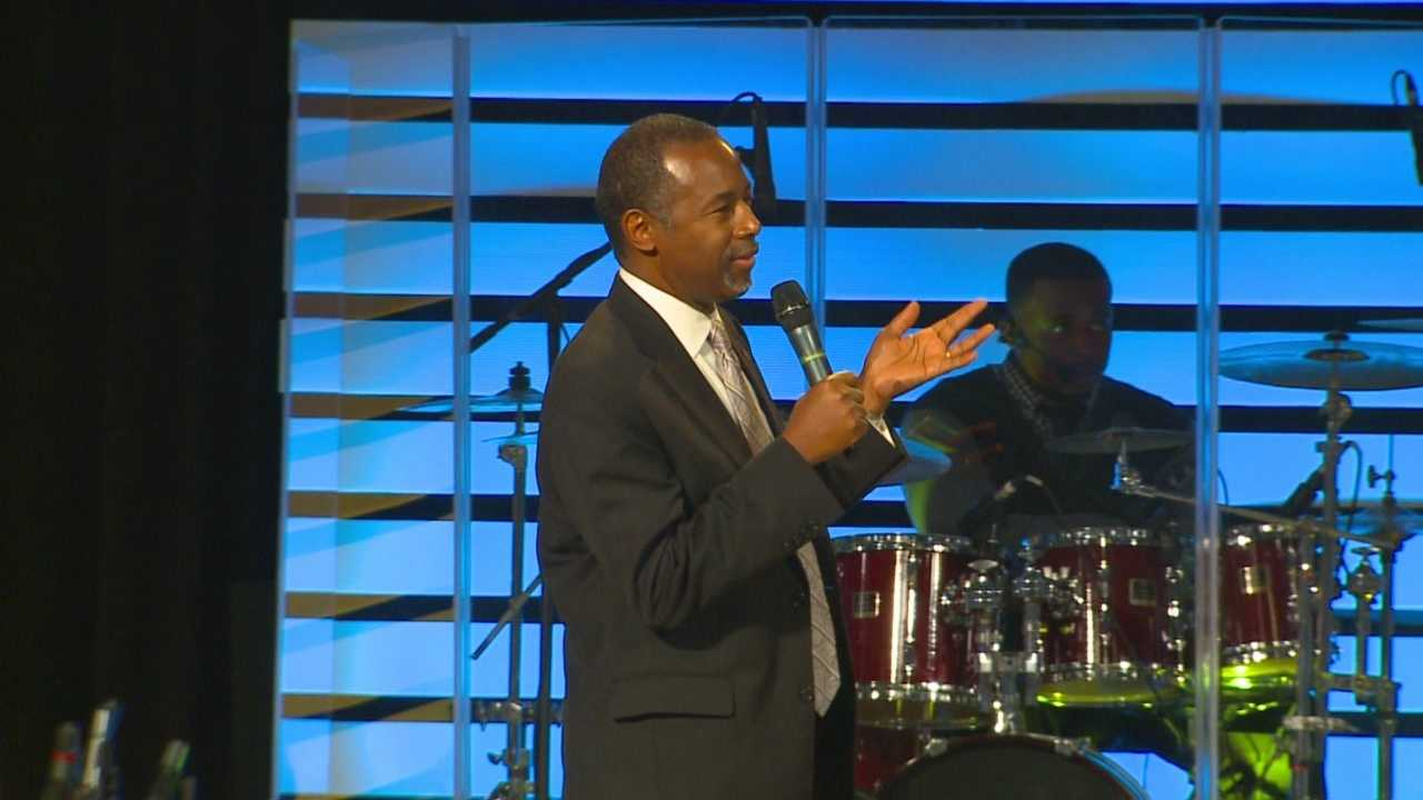 Members of Cornerstone Family Church in Des Moines said they were impressed to see Carson as a man of God.
