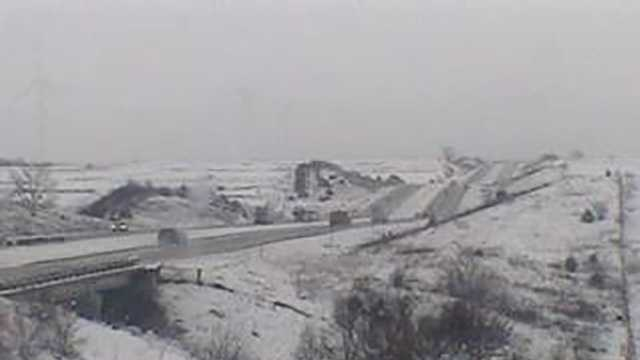 Interstate 80 near Adair at 11 a.m.