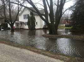 Flooding in Adel on Tuesday