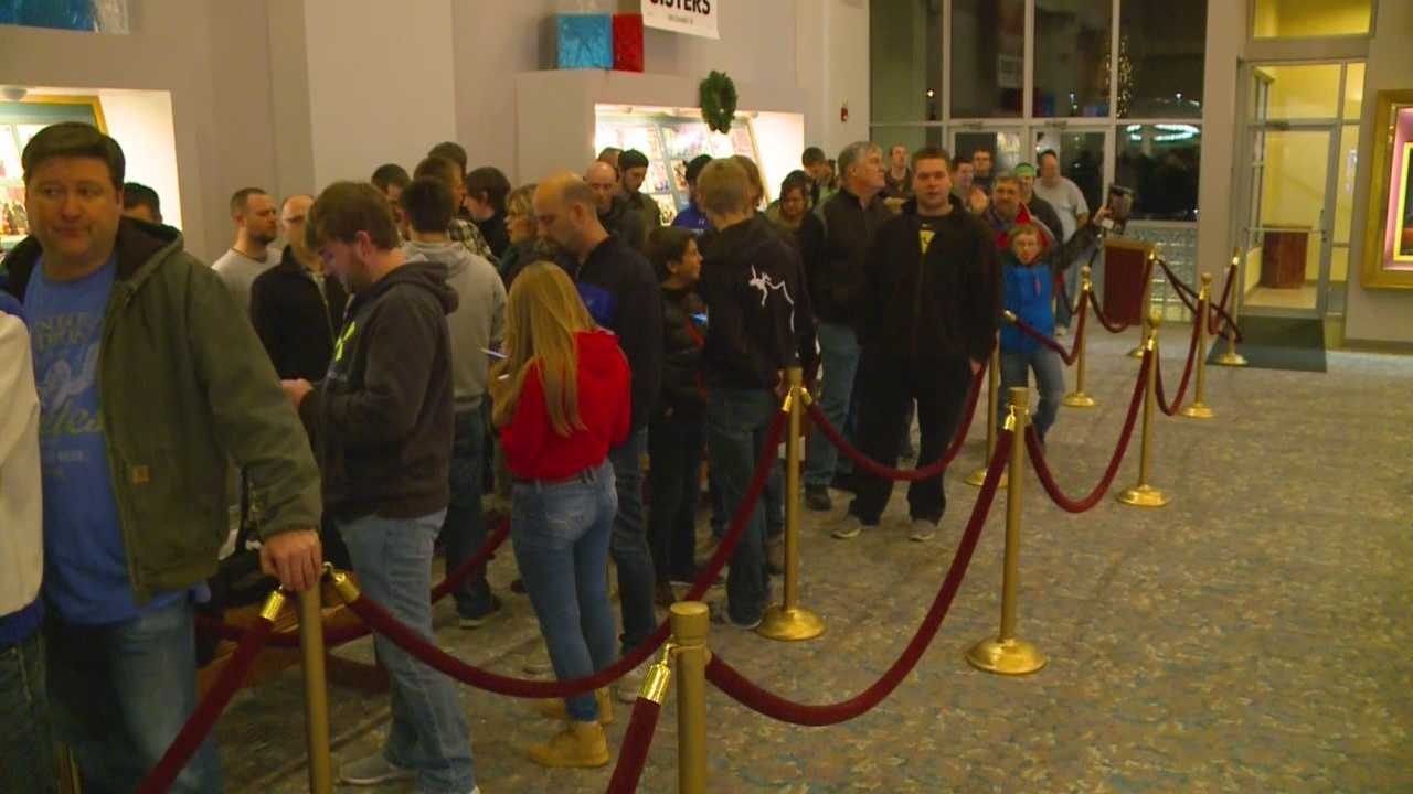 Generations of Iowans lined up to be the first to see the latest 'Star Wars' movie.