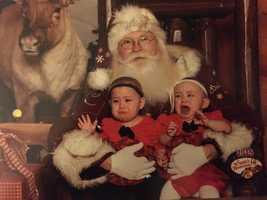 Hunter and Oakleigh Nolin visit Santa