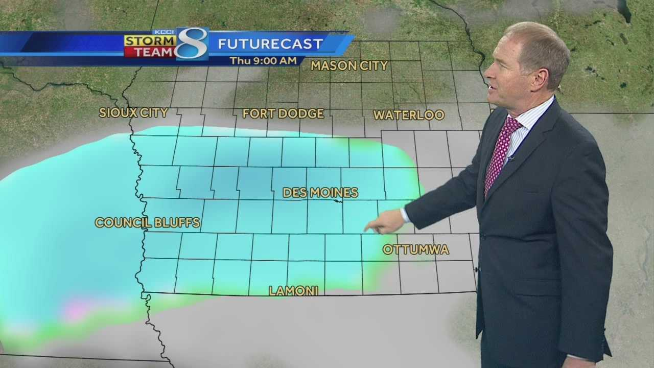 KCCI 8 Meteorologist Kurtis Gertz forecast for Iowa.