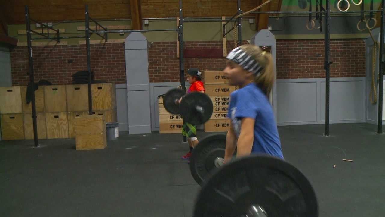 Two metro kids are using their Christmas break to hit the gym.