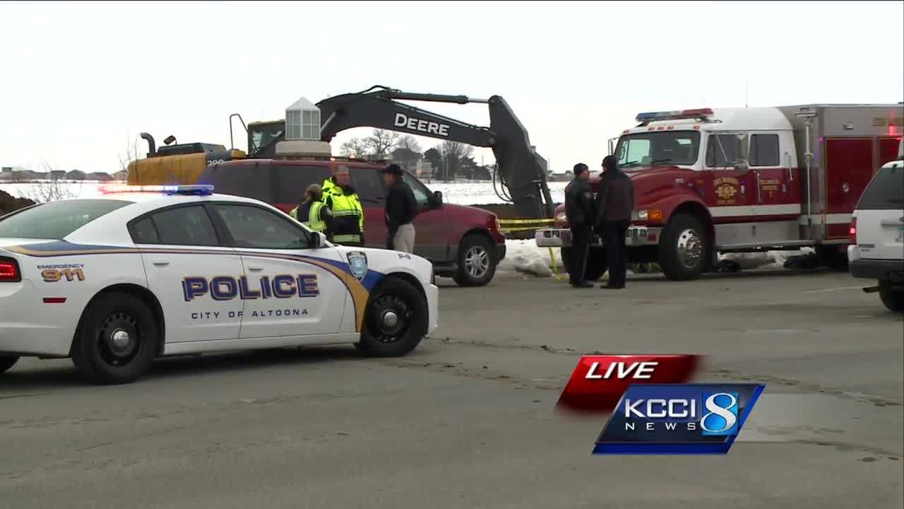 A trench collapses killing a worker in Altoona, Iowa.