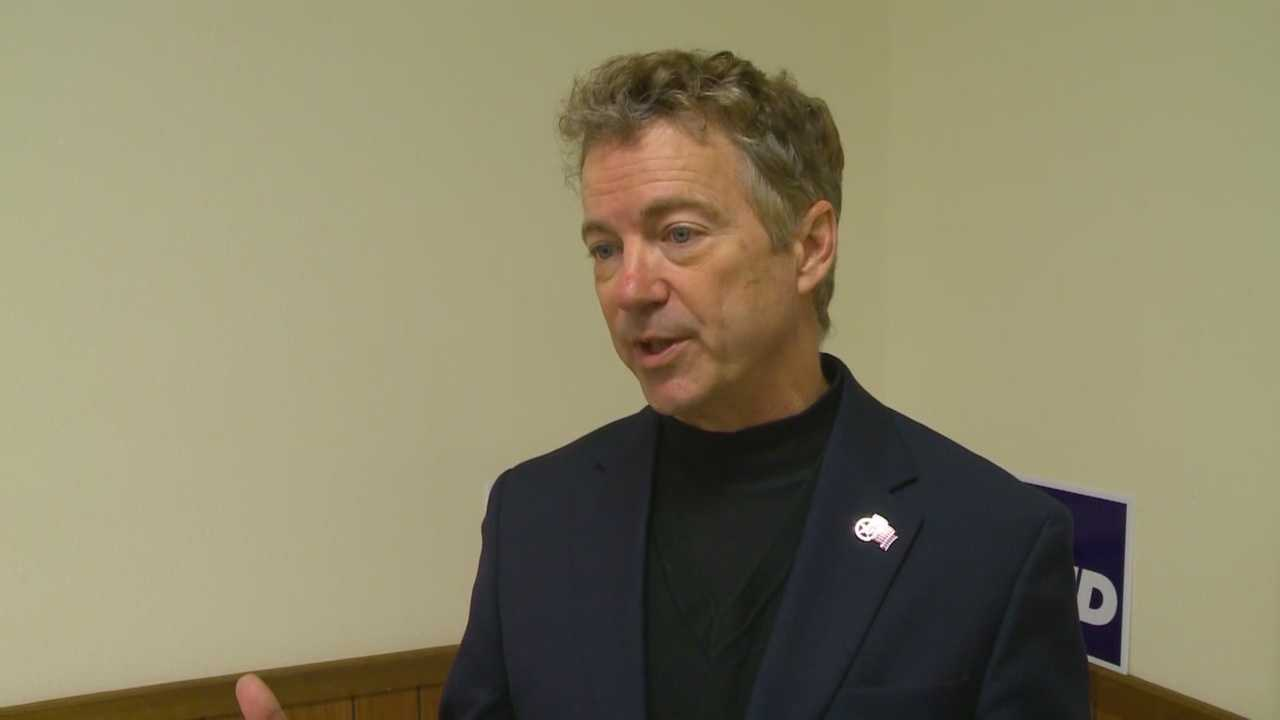 Rand Paul says Iowans should caucus for him because he will fight to keep government small.