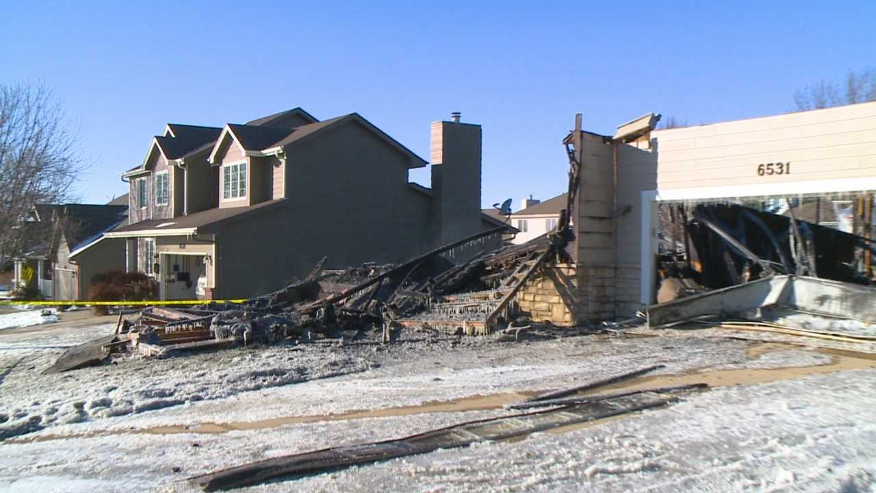 There's nothing left of the West Des Moines house.