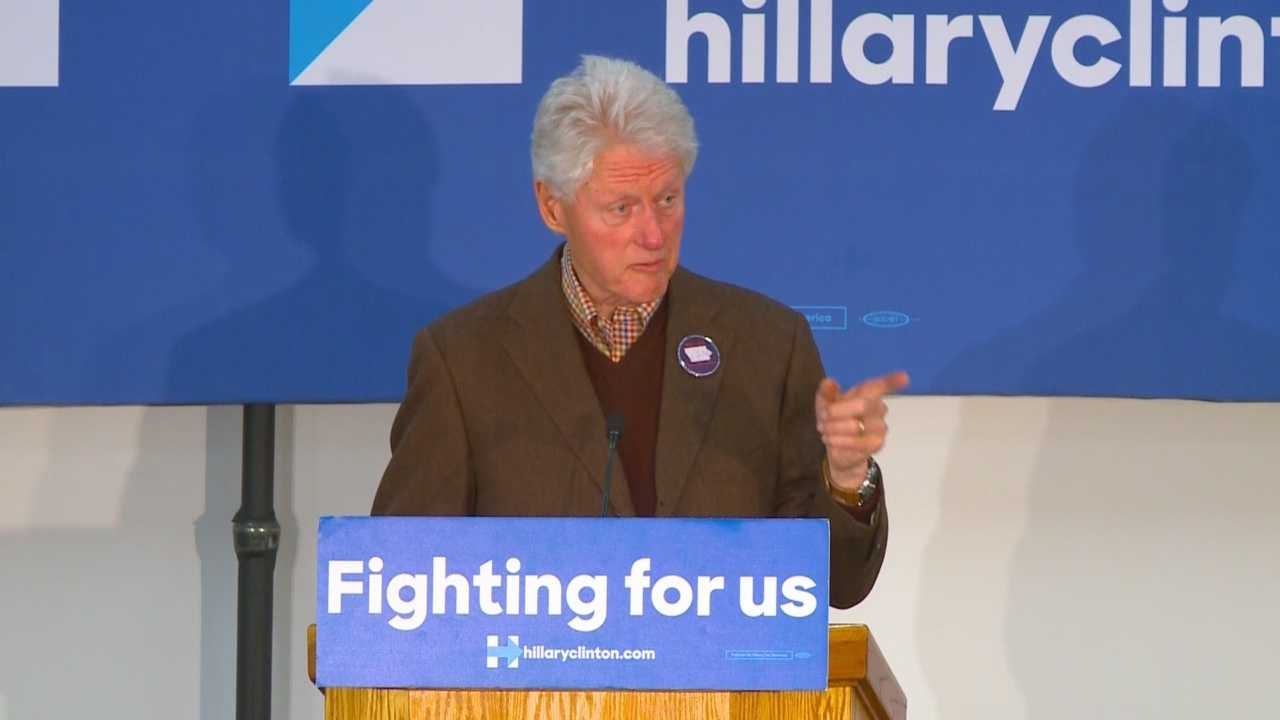 Clinton is campaigning in Sioux City and Marshalltown Friday.