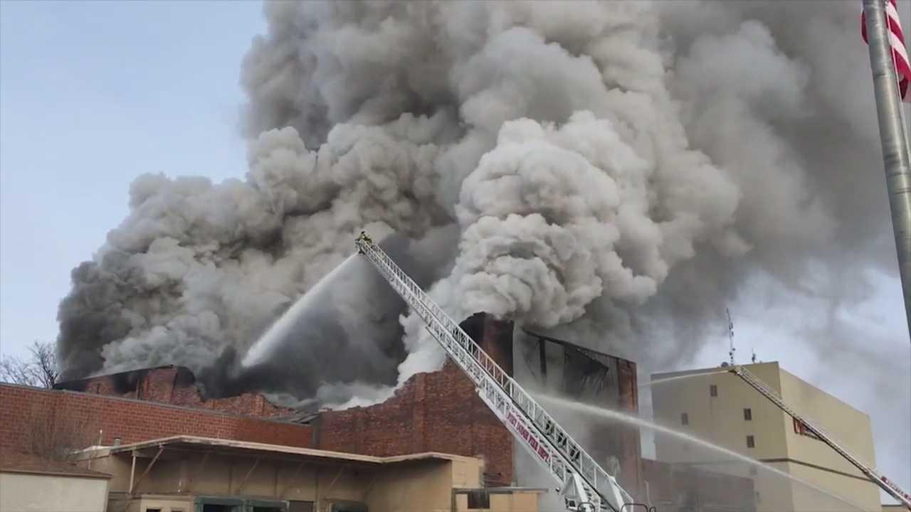Demolition Of Fire Damaged Building Begins