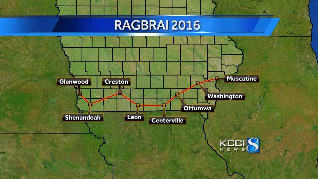 Officials announce 2016 RAGBRAI route