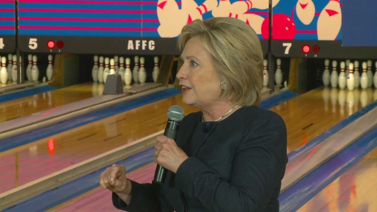 Hillary Clinton made an unusual stop in Adel, Iowa to get Iowans to caucus for her.