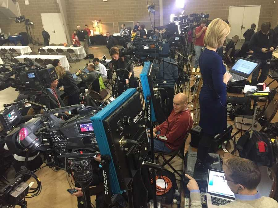 Media at the Ted Cruz campaign event
